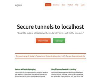Thumbshot of Ngrok.com