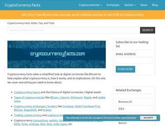 cryptocurrencyfacts.com screenshot