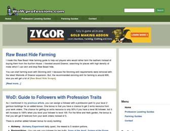 Thumbshot of Wow-professions.com