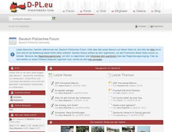 Main page screenshot of d-pl.eu