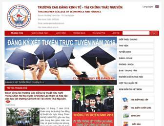 Main page screenshot of cdkttctn.edu.vn