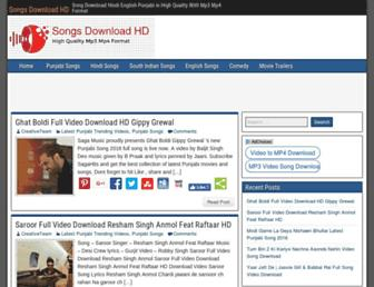 songsdownloadhd.com screenshot