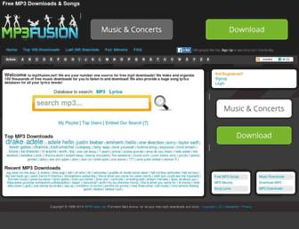 mp3fusion.net screenshot