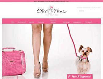 chicpawz.com screenshot