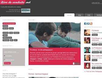 zerodeconduite.net screenshot