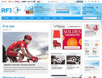 Main page screenshot of rfj.ch