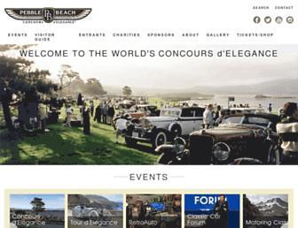 Thumbshot of Pebblebeachconcours.net
