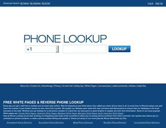 Thumbshot of Phonelookup.com