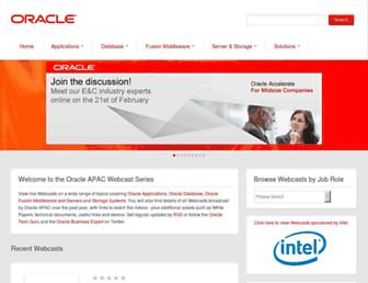 Thumbshot of Oracleapacwebcasts.com