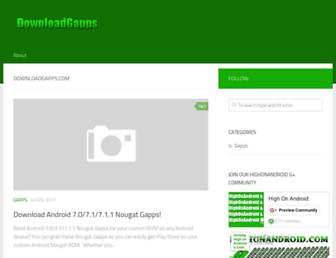 downloadgapps.com screenshot