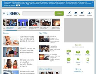 Main page screenshot of libero.it