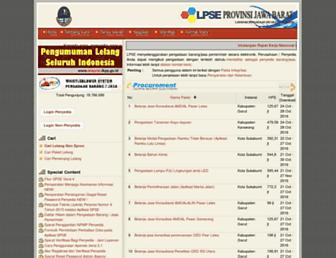 lpse.jabarprov.go.id screenshot