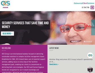 Main page screenshot of ocsireland.ie