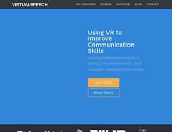 virtualspeech.com screenshot