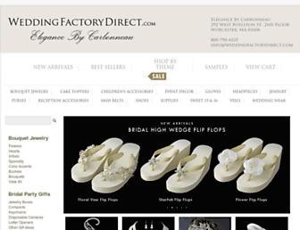 weddingfactorydirect.com screenshot