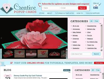 creativepopupcards.com screenshot