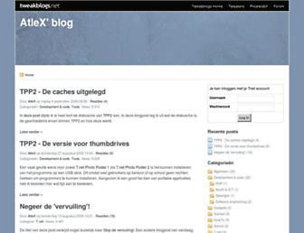 Main page screenshot of atlex.tweakblogs.net
