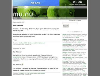 Main page screenshot of mu.nu