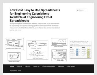 engineeringexcelspreadsheets.com screenshot