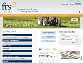 frstraining.com screenshot