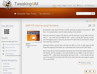 tweaking4all.com screenshot