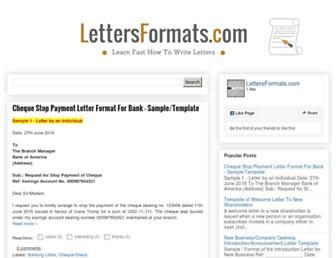 lettersformats.com screenshot
