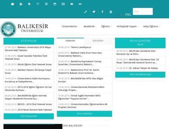 Thumbshot of Balikesir.edu.tr