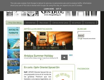 Main page screenshot of theginblog.es