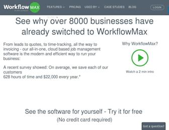 workflowmax.com screenshot