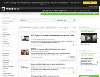 Main page screenshot of pressebox.de