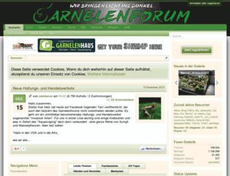 Main page screenshot of garnelenforum.de