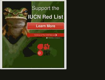 iucnredlist.org screenshot