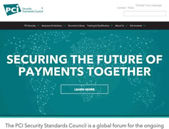 Thumbshot of Pcisecuritystandards.org