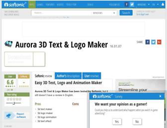 aurora-3d-text-logo-maker.en.softonic.com screenshot
