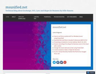 Main page screenshot of msunified.net
