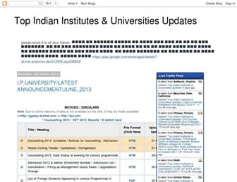 topindianuniversitiesadmissions.blogspot.in screenshot