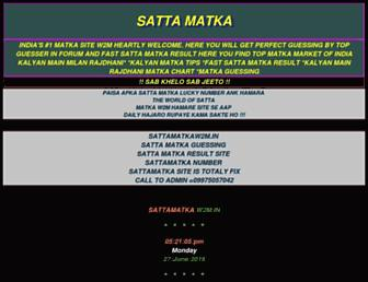 sattamatkaw2m.in screenshot