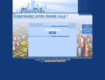 Main page screenshot of miniville.fr