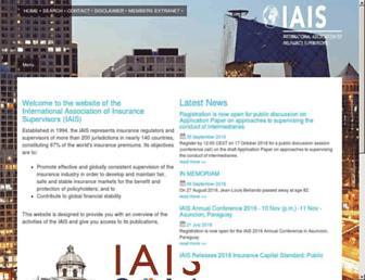iaisweb.org screenshot
