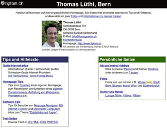 Main page screenshot of tiptom.ch