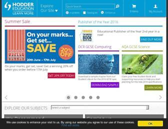 hoddereducation.co.uk screenshot