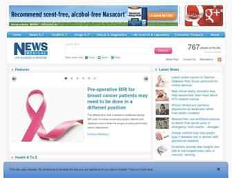 Main page screenshot of news-medical.net