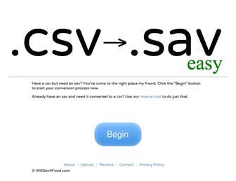 ezcsv2sav.com screenshot