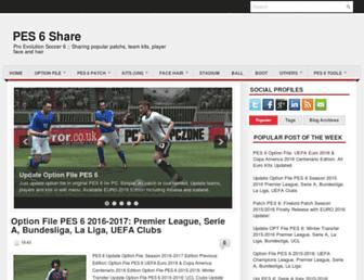 pes6share.blogspot.com screenshot