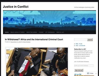 Main page screenshot of justiceinconflict.org