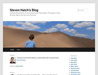 Main page screenshot of hatch.org