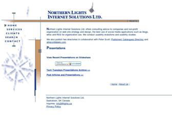 Main page screenshot of lights.ca