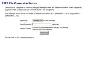 pspp.benpfaff.org screenshot