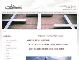 Main page screenshot of stmatthewchurch.org