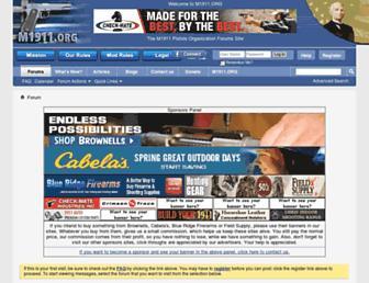 Main page screenshot of forum.m1911.org
